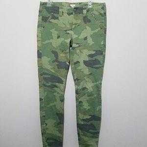 J Crew Stretch Skinny Jeans Camouflage Size 10